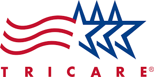 Tricare Logo with Red and Blue Color